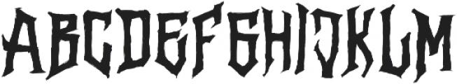 Vertigo Death otf (400) Font UPPERCASE