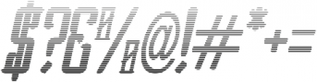 Vesaly Gradient Regular otf (400) Font OTHER CHARS