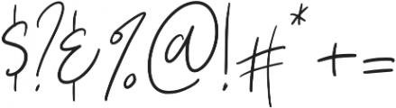 Vesterly otf (400) Font OTHER CHARS