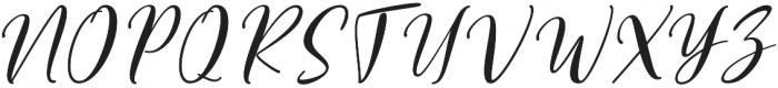 Vettorell Slant otf (400) Font UPPERCASE