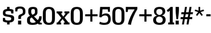 Vectipede Regular Font OTHER CHARS