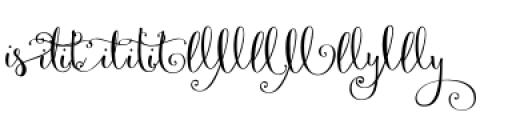 Velvetberries Combo 1 Font LOWERCASE