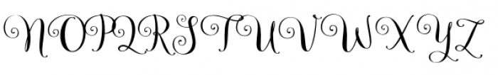 Velvetberries Regular Font UPPERCASE