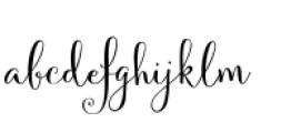 Velvetberries Regular Font LOWERCASE