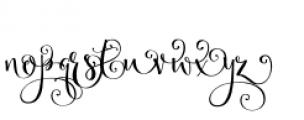 Velvetberries Right Font LOWERCASE