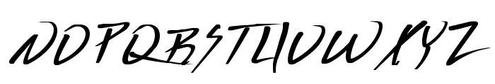 Vecker Bold Font UPPERCASE