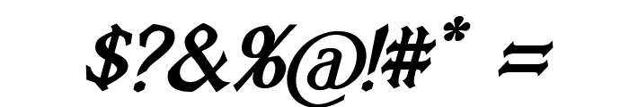 Vecna Bold Italic Font OTHER CHARS
