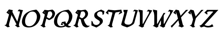 Vecna Bold Italic Font UPPERCASE