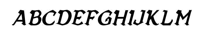 Vecna Bold Italic Font LOWERCASE