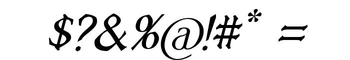 Vecna Italic Font OTHER CHARS