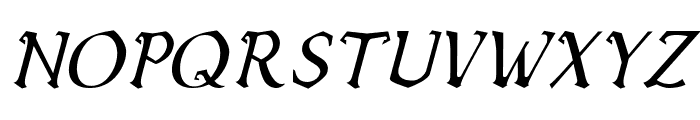 Vecna Italic Font UPPERCASE