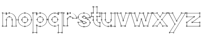Vector Font LOWERCASE