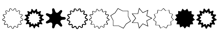 VectoryStarFrames Font OTHER CHARS