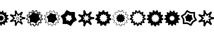 VectoryStarFrames Font LOWERCASE