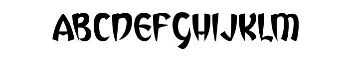 Vegas Desert Font UPPERCASE