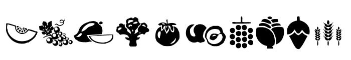 Vegetables Font OTHER CHARS