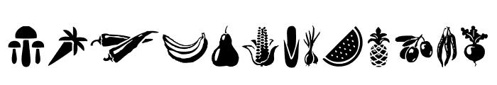 Vegetables Font UPPERCASE