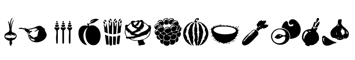 Vegetables Font LOWERCASE