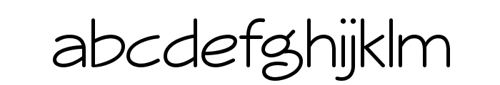 Veggieburger-Light Font LOWERCASE