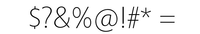 Vegur Light Font OTHER CHARS