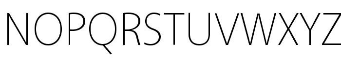 Vegur Light Font UPPERCASE