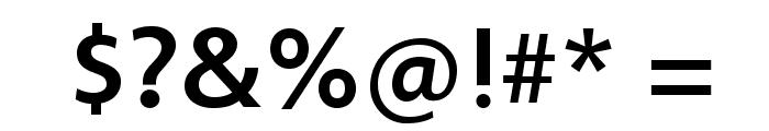 Vegur-Medium Font OTHER CHARS