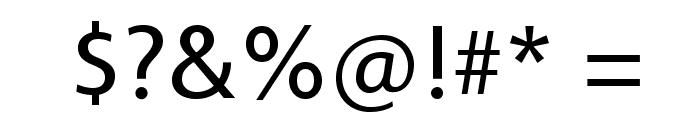 Vegur-Regular Font OTHER CHARS