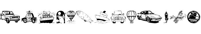 Vehicular Font UPPERCASE