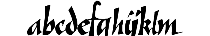Vein Font LOWERCASE