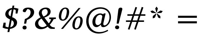 Veleka-Italic Font OTHER CHARS