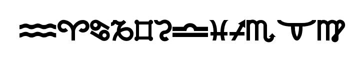 Velezodiac Font LOWERCASE
