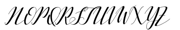 VellesaScript Font UPPERCASE