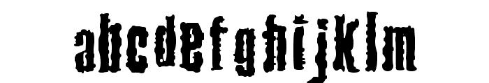 Venereal Disease Font LOWERCASE