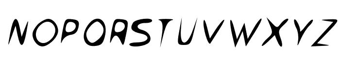 Venom Sans Oblique Font UPPERCASE