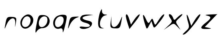 Venom Sans Oblique Font LOWERCASE