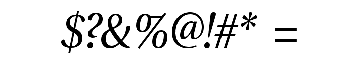 VenturisADF-Italic Font OTHER CHARS