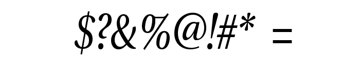 VenturisADFCdStyle-Italic Font OTHER CHARS