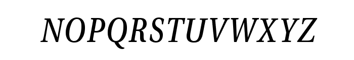 VenturisADFCdStyle-Italic Font LOWERCASE