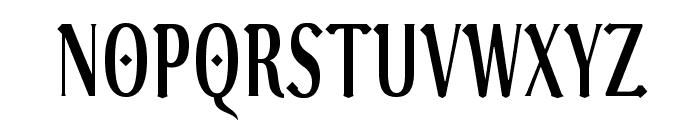 VenturisADFGothTitling Font UPPERCASE