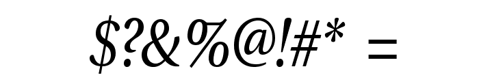 VenturisADFNo2-Italic Font OTHER CHARS