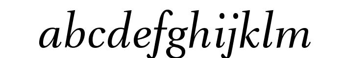 VenturisADFNo2-Italic Font LOWERCASE