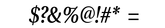 VenturisADFNo2Med-Italic Font OTHER CHARS