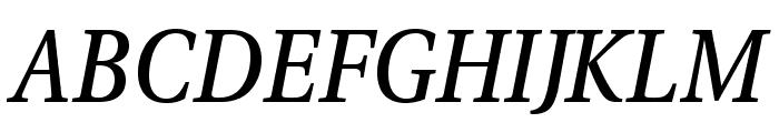 VenturisADFNo2Med-Italic Font UPPERCASE
