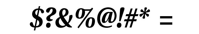 VenturisADFStyle-BoldItalic Font OTHER CHARS