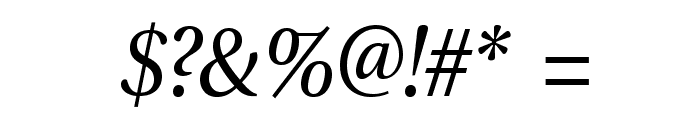 VenturisADFStyle-Italic Font OTHER CHARS