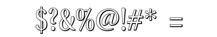 VenturisADFTitlingNo4 Font OTHER CHARS
