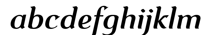 VenturisOldADF-BoldItalic Font LOWERCASE