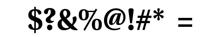 VenturisSansADF-Bold Font OTHER CHARS
