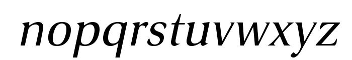VenturisSansADF-Italic Font LOWERCASE