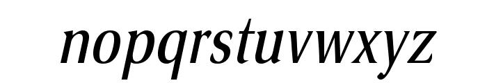 VenturisSansADFCd-Italic Font LOWERCASE